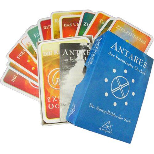 Das kosmische Orakel von Antares gibt dem Fragenden einen weitreichenden Überblick über die aktuelle Zeitqualität. Es spiegelt vor allem die persönliche energetische Situation wider im Zusammenhang mit der Gesamtheit. Antares wird dem gleichnamigen Sternensystem zugeordnet und besteht aus 84 Symbolen