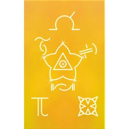 """Auf diesen Karten werden Symbole dargestellt, welche """"Freie Energien"""" bündeln, um sie für den Menschen nutzbar zu machen. Sämtliche Symbole sind im Prägedruck dargestellt, um ihre energetische Wirkung über den Tastsinn aufnehmen zu können. Die Karten entfalten vor allem dann ihre Wirkung, wenn sie am Körper oder in Körpernähe getragen werden. Dies kann in der Geldbörse, im Terminplaner oder in einer Hosen- bzw. Hemdtasche sein."""