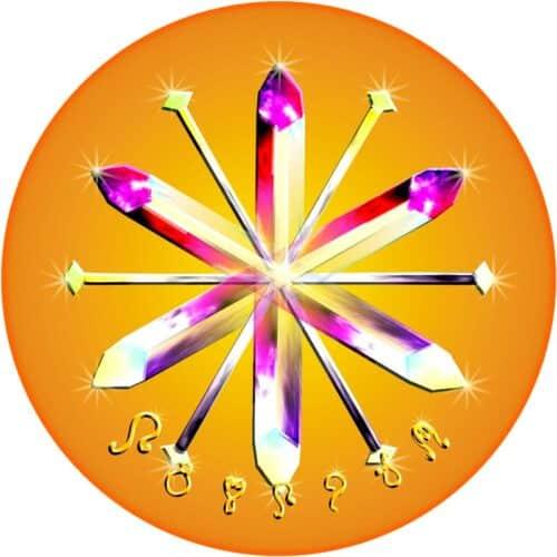 Jeder Edelstein und Kristall, der für zumindest 15 Minuten auf diesem Mandala liegt, wird von ungünstigen energien und von sämtlichen manipulativen Programmen befreit. Er bekommt dauerhaft in seine ursprüngliche 100%-ige Kraft. Wird das Mandala in Räumen oder an Orten aufgelegt, vollzieht sich dort eine energetische Reinigung. Freude, Fülle und Wohlstand werden dadurch eingeladen.