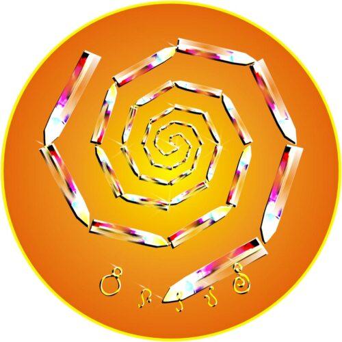 Kajul gleicht polare Energien aus und reinigt sämtliche Chakren. Die Lebenskräfte werden optimal aktiviert und auf die ureigene Frequenz eingestellt. Dieses Mandala auf ein Chakra auflegen und einwirken lassen.