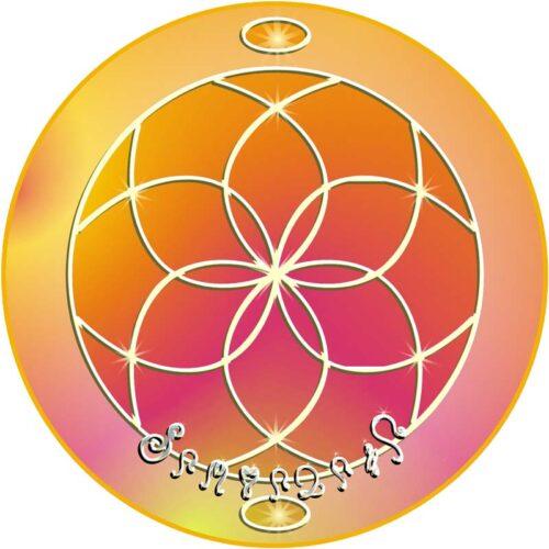Überall dort, wo dieses Mandala aufgelegt wird, ruft der Mensch die nährende Kraft der Erdengöttin an und ladet sie ein. Dies gibt Geborgenheit und behütet den Raum.