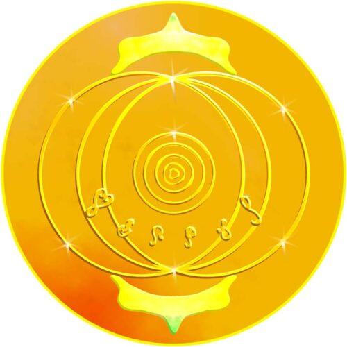Dieses Mandala umhüllt und behütet dich. Du findest zu einer wunderbaren inneren Stille, besonders dann, wenn du diese Karte auf deinen Körper auflegst. Der Geist der Delfine wird eingeladen.