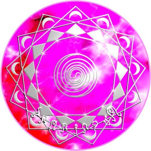 Diese Mandalaenergie verbindet uns mit der großen galaktischen mutter, dem allumfassenden Urgrund. Wenn wir das Mandala am Körper auflegen, finden wir diese grundlegende Geborgenheit, die uns frische Kraft für unser alltägliches Leben schenkt.