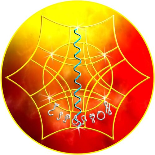 Durch dieses Mandala werden männliche impulsgebende Energien eingeladen. Diese besitzen vor allem die Fähigkeit, neue Ideen zu finden und Ziele, die im Sinne des Ganzen stehen, zu erreichen.
