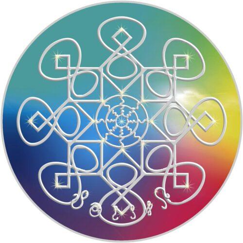 Der Mensch wird durch die Kraft dieses Mandalas aus allen Angststrukturen enthoben und emotional befreit. An 8 aufeinander folgenden Nächten einen Bergkristall oder einen Ametrin auf dieses Mandala legen und den Stein tagsüber bei sich tragen.
