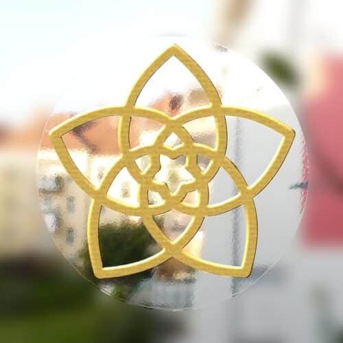 3 Aufkleber mit hochwertigen Golddruck auf durchsichtiger Folie, 5 / 8 / 13 cm im Durchmesser designed by Werner Neuner ISBN 978-3-9022080-58-9