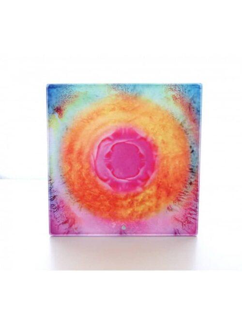 Persönliches Triphonie Frequenzbild auf Glasfliese
