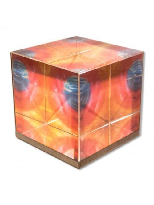 Frequenzbild Glaswürfel Werner Neuner
