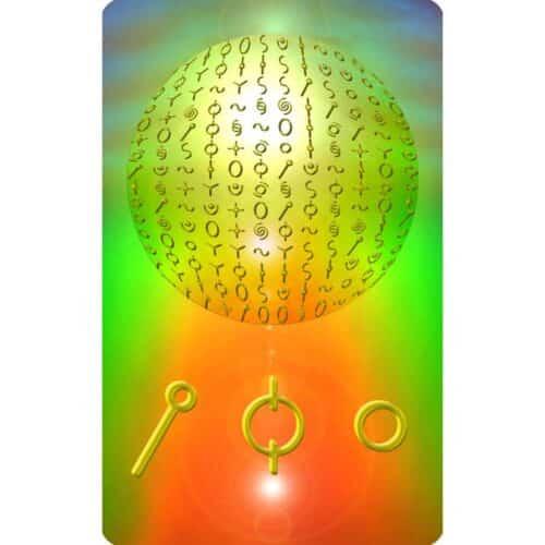 Die Matrix ist der Gedanke und der Logos, durch den das Bewusstsein die Wirklichkeiten erschafft. Die geheilte und heile Matrix befindet sich im Einklang mit allem Leben und im Einklang mit dem allgegenwärtigen Geist. Die geheilte Matrix erschafft Wirklichkeiten im Sinne der Evolutionskräfte des Lebens. Auf dieser Karte siehst du Symbole, welche die Struktur der Heilen Matrix zum Thema Erfolg darstellen. Diese Darstellung ergibt sich kreativ aus dem Wissen über den Goldenen Schnitt, die Heilige Geometrie und aus dem Wissen über die damit verbundenen Vorgänge in unserer DNA.