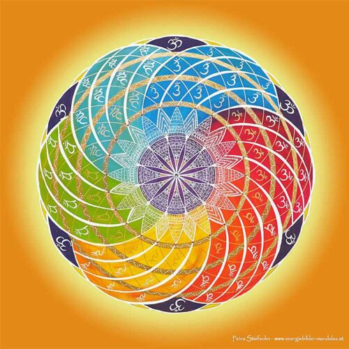 Dieses Mandala zeigt alle Chakren in ihrem harmonischen Gleichgewicht.