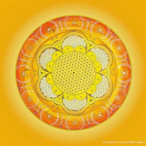 Die Farben rot, orange und gelb stehen für die unteren 3 Chakren Wurzel.- Sakral und Solarplexuschakra. Das Wurzelchakra hilft dir bei der Erdung und Stabilität.