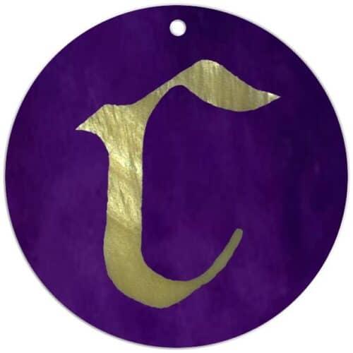 Hildegard-von-Bingen-Symbol Allumfassende-Liebe-Anhänger-aus-echtem-Perlmutt Buchstabe f